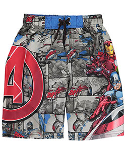 "Marvel Big Boys' ""Vintage Battle"" Boardshorts (Sizes 8 – 20) - CookiesKids.com"