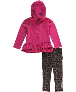 "Calvin Klein Little Girls' ""Terry Diamond"" 2-Piece Outfit (Sizes 4 – 6X) - CookiesKids.com"