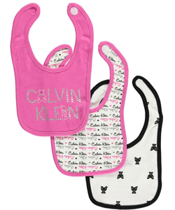 "Calvin Klein ""Bears Together"" 3-Pack Bibs - CookiesKids.com"