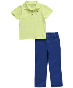 "Calvin Klein Little Boys' ""Paulo"" 2-Piece Outfit (Sizes 4 – 7) - CookiesKids.com"