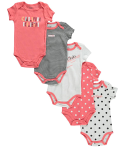 "Calvin Klein Baby Girls' ""En Vogue"" 5-Pack Bodysuits - CookiesKids.com"