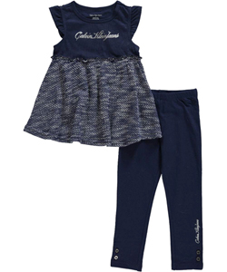 "Calvin Klein Little Girls' Toddler ""Knit Kit"" 2-Piece Outfit (Sizes 2T – 4T) - CookiesKids.com"