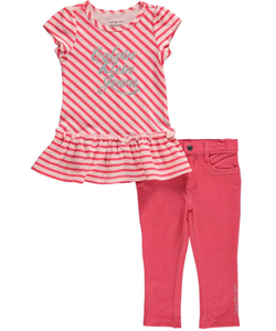 "Calvin Klein Little Girls' Toddler ""Gleeful"" 2-Piece Outfit (Sizes 2T – 4T) - CookiesKids.com"