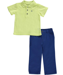 "Calvin Klein Baby Boys' ""Paulo"" 2-Piece Outfit - CookiesKids.com"
