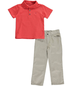 "Calvin Klein Little Boys' Toddler ""Jorge"" 2-Piece Outfit (Sizes 2T – 4T) - CookiesKids.com"