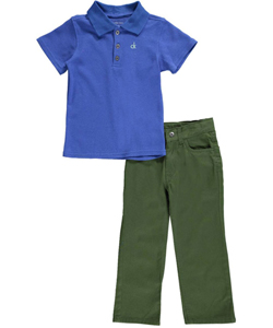 "Calvin Klein Little Boys' Toddler ""Javier"" 2-Piece Outfit (Sizes 2T – 4T) - CookiesKids.com"