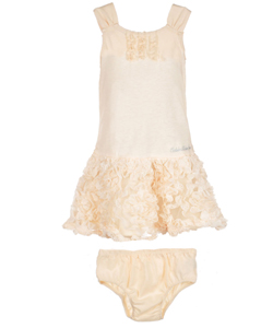 "Calvin Klein Baby Girls' ""Squigglish"" Dress with Diaper Cover - CookiesKids.com"