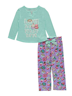 "Sleep On It Little Girls' ""Love at First Bite"" 2-Piece Pajamas (Sizes 4 – 6X) - CookiesKids.com"