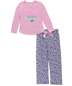 "Sleep On It Little Girls' ""Friends Sleepover"" 2-Piece Pajamas (Sizes 4 – 6X) - CookiesKids.com"