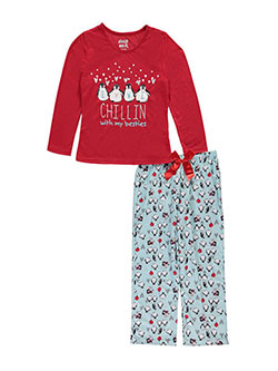 "Sleep On It Big Girls' ""Greatest Gift"" 2-Piece Pajamas (Sizes 7 – 16) - CookiesKids.com"