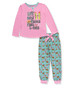 "Sleep On It Big Girls' ""Best French Fries Forever"" 2-Piece Pajamas (Sizes 7 – 16) - CookiesKids.com"