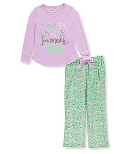 "Sleep On It Big Girls' ""Wake Me When I'm Famous"" 2-Piece Pajamas (Sizes 7 – 16) - CookiesKids.com"