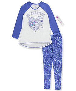 "Sleep On It Big Girls' ""Get Creative!"" 2-Piece Pajamas (Sizes 7 – 16) - CookiesKids.com"