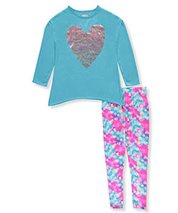 "Sleep On It Big Girls' ""Dream to Inspire"" 2-Piece Pajamas (Sizes 7 – 16) - CookiesKids.com"