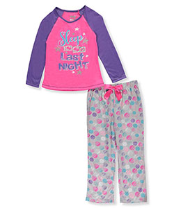 "Sleep On It Big Girls' ""So Yesterday"" 2-Piece Pajamas (Sizes 7 – 16) - CookiesKids.com"