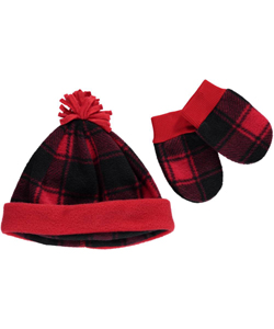 "Columbia Baby Boys' ""Frosty Fleece"" Hat & Mittens Set - CookiesKids.com"