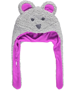 "Columbia Infant Girls'  ""Snow Bear"" Fleece Hat - CookiesKids.com"