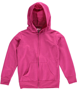 "Coney Island Big Girls' ""Heart Zip"" Fleece Hoodie (Sizes 7 – 16) - CookiesKids.com"