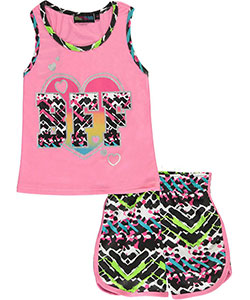 "Coney Island Little Girls' ""Cool BFF"" 2-Piece Outfit (Sizes 4 – 6X) - CookiesKids.com"