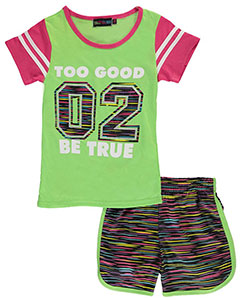 "Coney Island Big Girls' ""2 Good"" 2-Piece Outfit (Sizes 7 – 16) - CookiesKids.com"