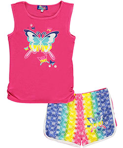 "Coney Island Little Girls' ""Rainbow Flight"" 2-Piece Outfit (Sizes 4 – 6X) - CookiesKids.com"