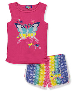 "Coney Island Big Girls' ""Rainbow Flight"" 2-Piece Outfit (Sizes 7 – 16) - CookiesKids.com"