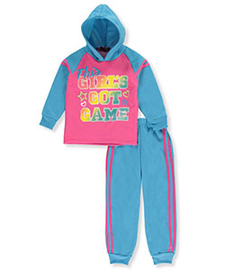 "Coney Island Little Girls' Toddler ""Got Game"" 2-Piece Fleece Sweatsuit (Sizes 2T – 4T) - CookiesKids.com"