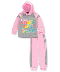 "Coney Island Little Girls' ""Got Game"" 2-Piece Fleece Sweatsuit (Sizes 4 – 6X) - CookiesKids.com"