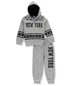 "Coney Island Little Boys' ""New York Stars"" 2-Piece Fleece Sweatsuit (Sizes 4 – 7) - CookiesKids.com"