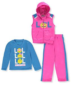 "Coney Island Little Girls' Toddler ""LOL"" 3-Piece Outfit (Sizes 2T – 4T) - CookiesKids.com"
