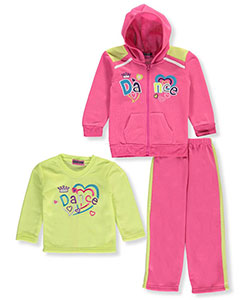 "Coney Island Little Girls' Toddler ""Love 2 Dance"" 3-Piece Outfit (Sizes 2T – 4T) - CookiesKids.com"