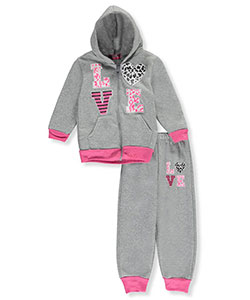 "Coney Island Little Girls' Toddler ""In the Wild"" 2-Piece Fleece Sweatsuit (Sizes 2T – 4T) - CookiesKids.com"