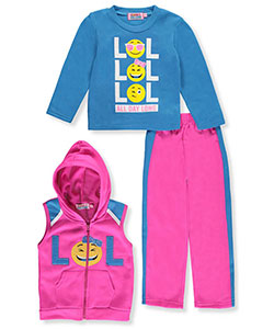 "Coney Island Little Girls' ""LOL"" 3-Piece Outfit (Sizes 4 – 6X) - CookiesKids.com"