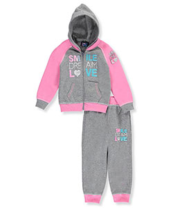 "Coney Island Baby Girls' ""Smile Dream Love"" 2-Piece Fleece Sweatsuit - CookiesKids.com"