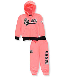 Coney Island Little Girls' 2-Piece Fleece Sweatsuit (Sizes 4 – 6X) - CookiesKids.com
