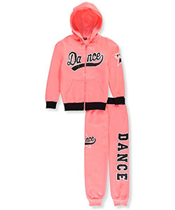 Coney Island Big Girls' 2-Piece Fleece Sweatsuit (Sizes 7 – 16) - CookiesKids.com