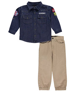 "Coogi Little Boys' ""Road Tripper"" 2-Piece Outfit (Sizes 4 – 7) - CookiesKids.com"