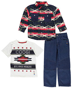 "Coogi Little Boys' ""5 Stars"" 3-Piece Outfit (Sizes 4 – 7) - CookiesKids.com"