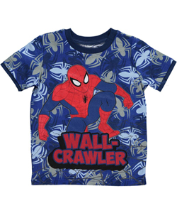"Spider-Man Little Boys' Toddler ""Wall-Crawler"" T-Shirt (Sizes 2T – 4T) - CookiesKids.com"