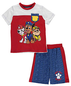 "Paw Patrol Little Boys' Toddler ""Ready & Willing"" 2-Piece Outfit (Sizes 2T – 4T) - CookiesKids.com"