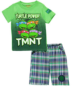 "TMNT Little Boys' Toddler ""Turtle Power"" 2-Piece Outfit (Sizes 2T – 4T) - CookiesKids.com"