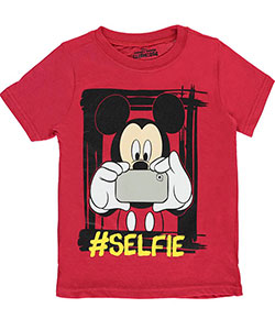 "Mickey Mouse Little Boys' Toddler ""Mouse Selfie"" T-Shirt (Sizes 2T – 4T) - CookiesKids.com"