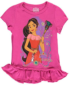 "Elena of Avalor Little Girls' Toddler ""Lead with Kindness"" T-Shirt (Sizes 2T – 4T) - CookiesKids.com"