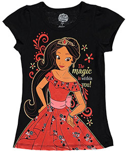 "Elena of Avalor Little Girls' ""The Magic Is Within You"" T-Shirt (Sizes 4 – 6X) - CookiesKids.com"