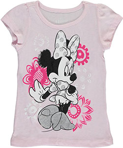 "Minnie Mouse Little Girls' ""Flower Twirl"" T-Shirt (Sizes 4 – 6X) - CookiesKids.com"