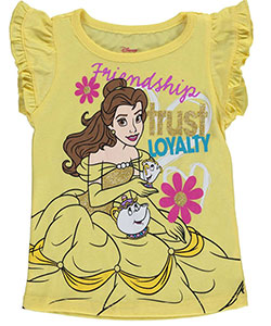 "Disney Princess Little Girls' Toddler ""Loyal Friends"" T-Shirt (Sizes 2T – 4T) - CookiesKids.com"