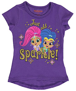 "Shimmer and Shine Little Girls' Toddler ""Just Add Sparkle!"" T-Shirt (Sizes 2T – 4T) - CookiesKids.com"