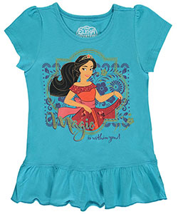 "Elena of Avalor Little Girls' ""Magic Is Within You"" T-Shirt (Sizes 4 – 6X) - CookiesKids.com"