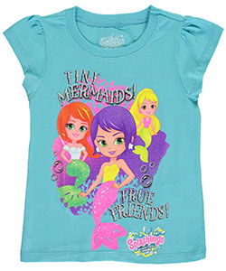 "Splashlings Little Girls' ""Tiny Mermaids"" T-Shirt (Sizes 4 – 6X) - CookiesKids.com"