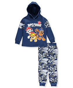 "Paw Patrol Little Boys' Toddler ""Camo Bones"" 2-Piece Fleece Sweatsuit (Sizes 2T – 4T) - CookiesKids.com"